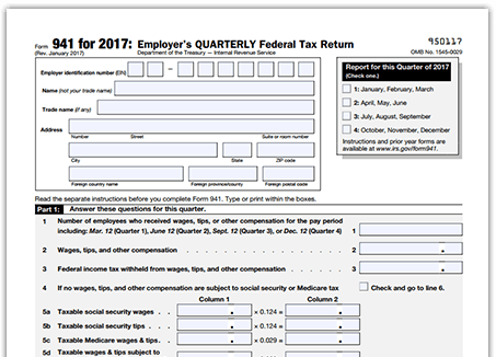 File 941 Online | E-file Form 941 | 941 Reporting Software